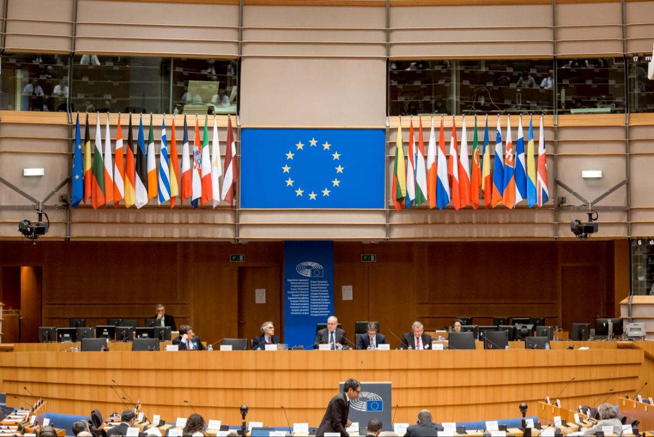 Vergaderzaal Europees Parlement